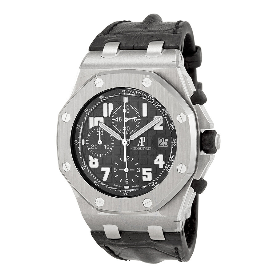 Audemars piguet royal oak offshore black dial chronograph men 39 s watch 26170stood101cr03 royal for Audemars watches