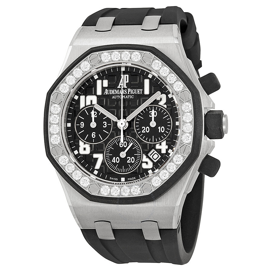 Audemars piguet royal oak offshore black dial ladies watch 26048skzzd002ca01 royal oak for Audemars watches