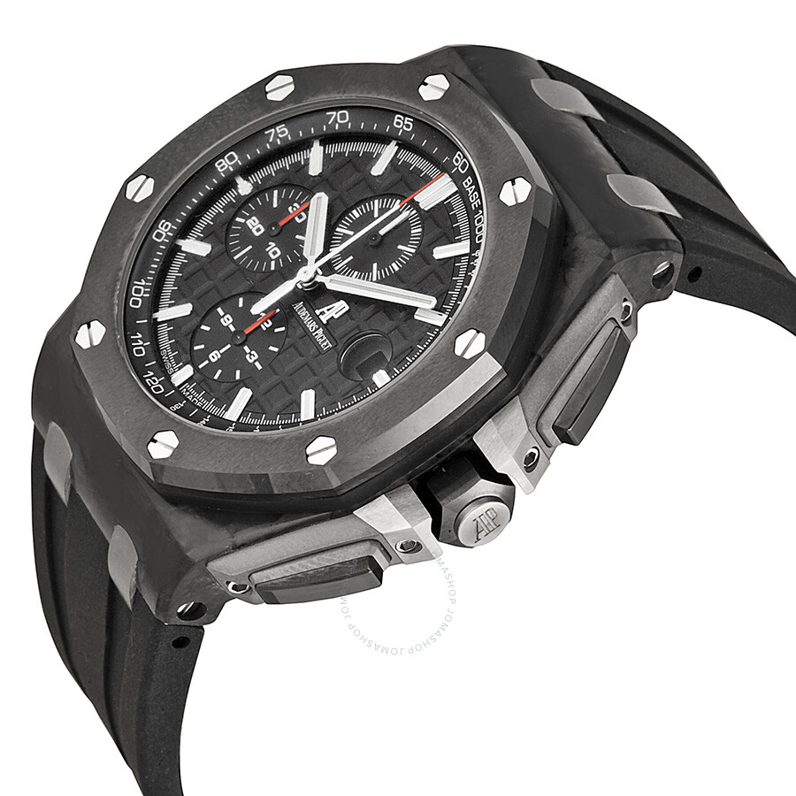 Audemars piguet royal oak offshore black dial men 39 s watch 26400au oo royal oak for Audemars watches