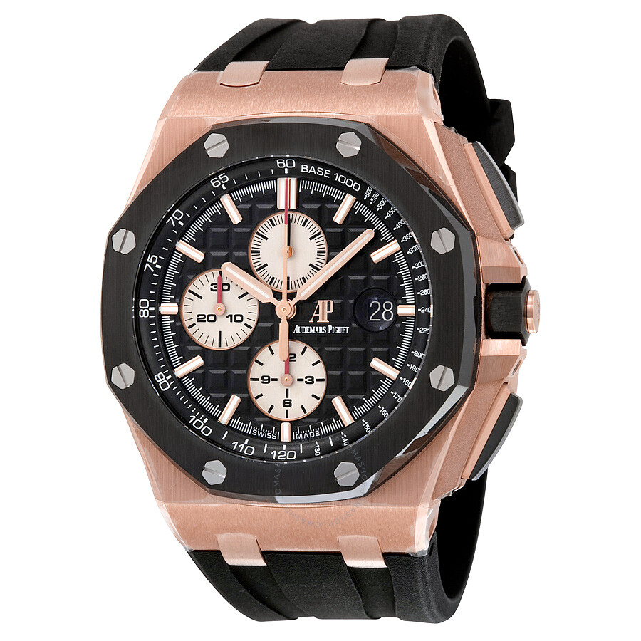 Audemars piguet royal oak offshore black dial men 39 s watch 26401 ro oo a002 royal oak for Audemars watches