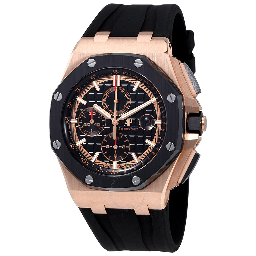 ab1d785dd86 Audemars Piguet Royal Oak Offshore Black Mega Tapisserie Dial Men s  Chronograph Watch