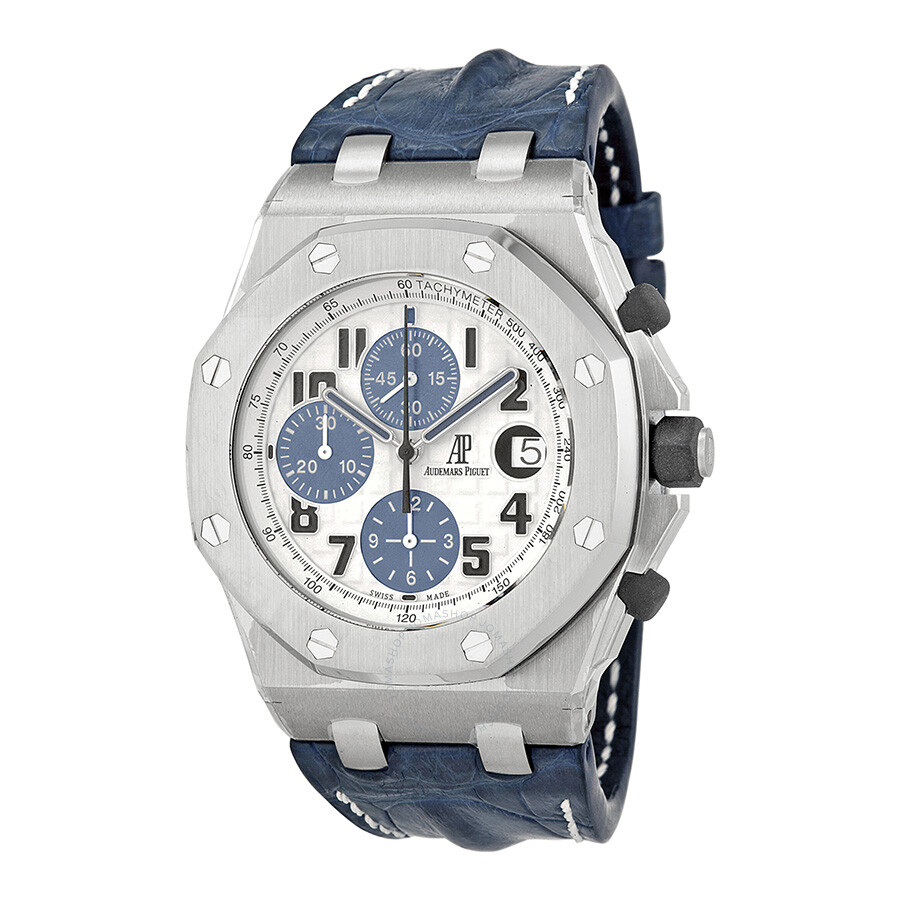 Audemars piguet royal oak offshore blue leather strap men 39 s watch 26170stood305cr01 royal oak for Audemars watches