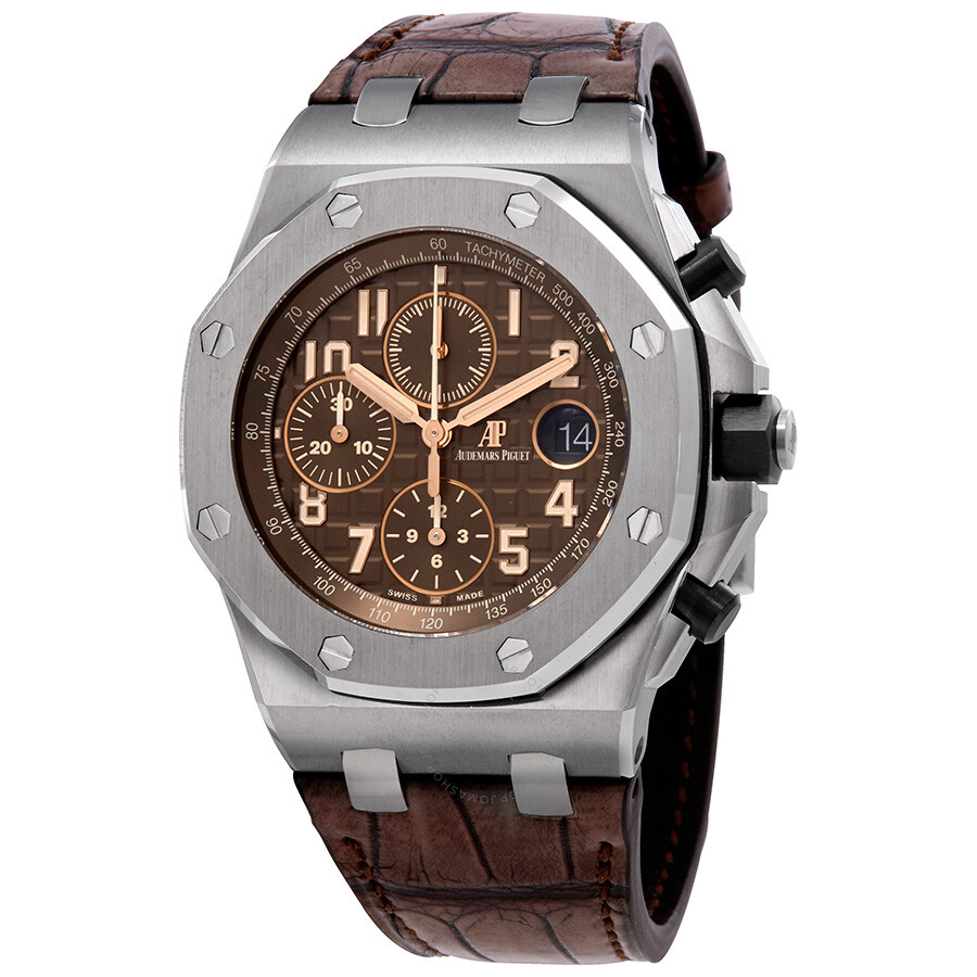 Audemars piguet royal oak offshore brown dial men 39 s chronograph watch 26470st oo for Audemars watches