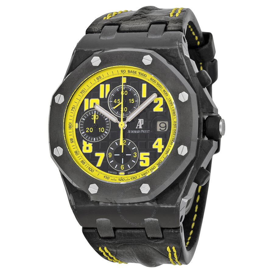 Audemars piguet royal oak offshore bumble bee chronograph men 39 s watch 26176fo oo for Audemars watches