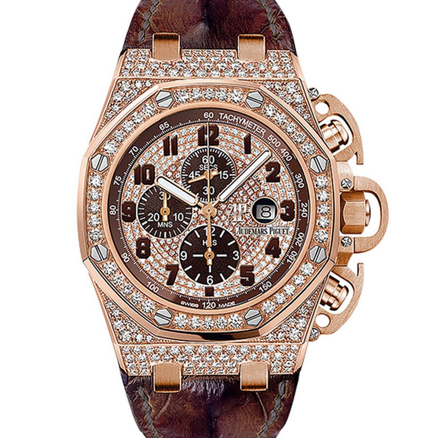 440fffb02491 Audemars Piguet Royal Oak Offshore Diamond Pave Dial Automatic Men s  Chronograph Watch Item No. 26215OR.ZZ.A801CR.01