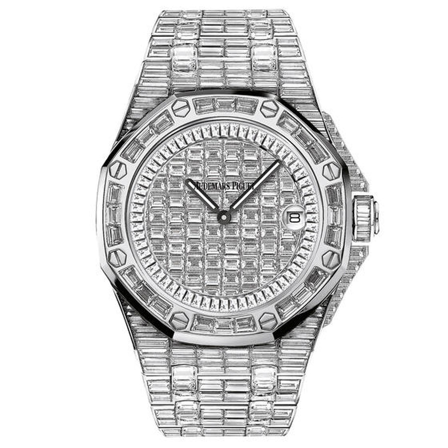 47482e06339c7 Audemars Piguet Royal Oak Offshore Diamond Pave Dial Ladies 18 Carat White  Gold Watch Item No. 67543BC.ZZ.9185BC.01