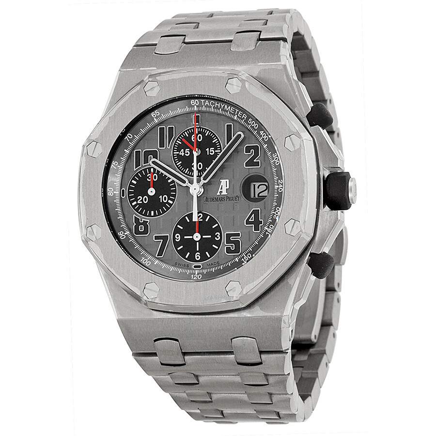 Audemars piguet royal oak offshore grey dial men 39 s watch 26170tioo1000ti01 royal oak for Audemars watches