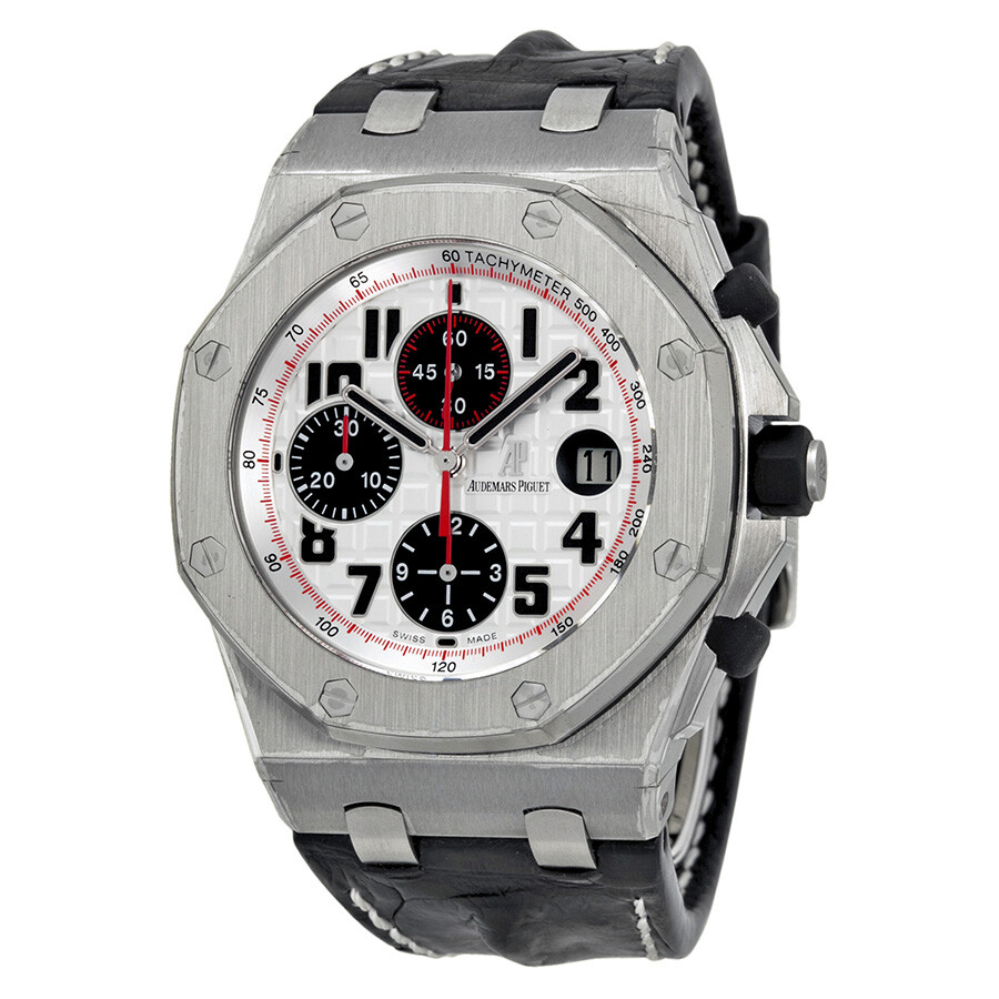 Audemars piguet royal oak offshore silver dial men 39 s watch 26170st oo royal oak for Audemars watches