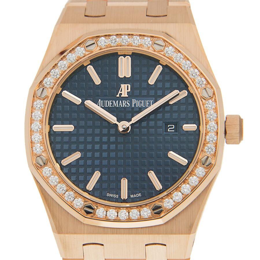 Royal Oak Quartz Diamond Silver Dial Ladies Watch 67651OR.ZZ.1261OR.02