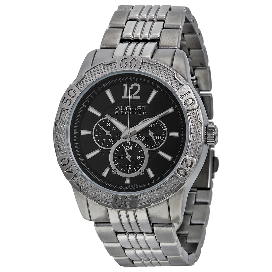 Black Metal Watches For Mens