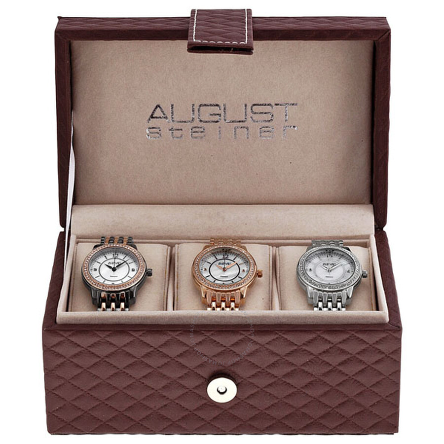 57b5fb37ad22 August Steiner Three Watch Set for Ladies AS8027-SET - August ...