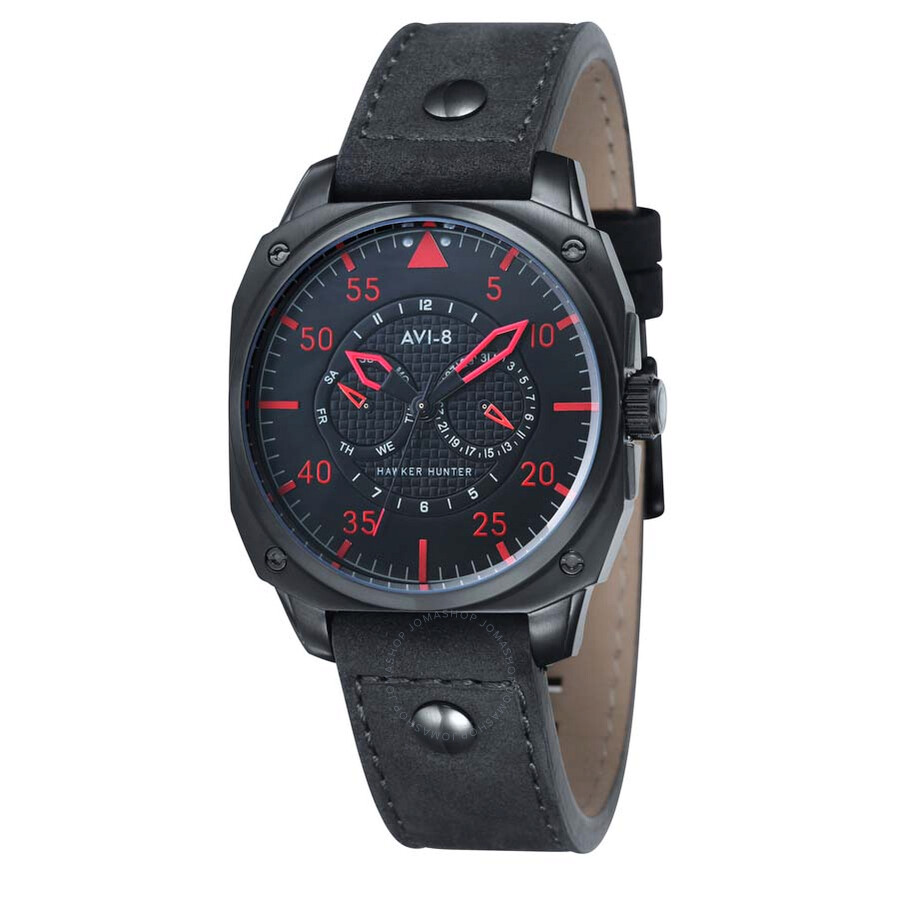 AVI-8 Hawker Hunter Black Dial Men's Watch 4009-03 ...