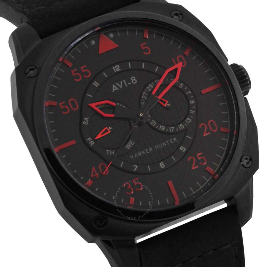 ... AVI-8 Hawker Hunter Black Dial Men's Watch 4009-03 ...