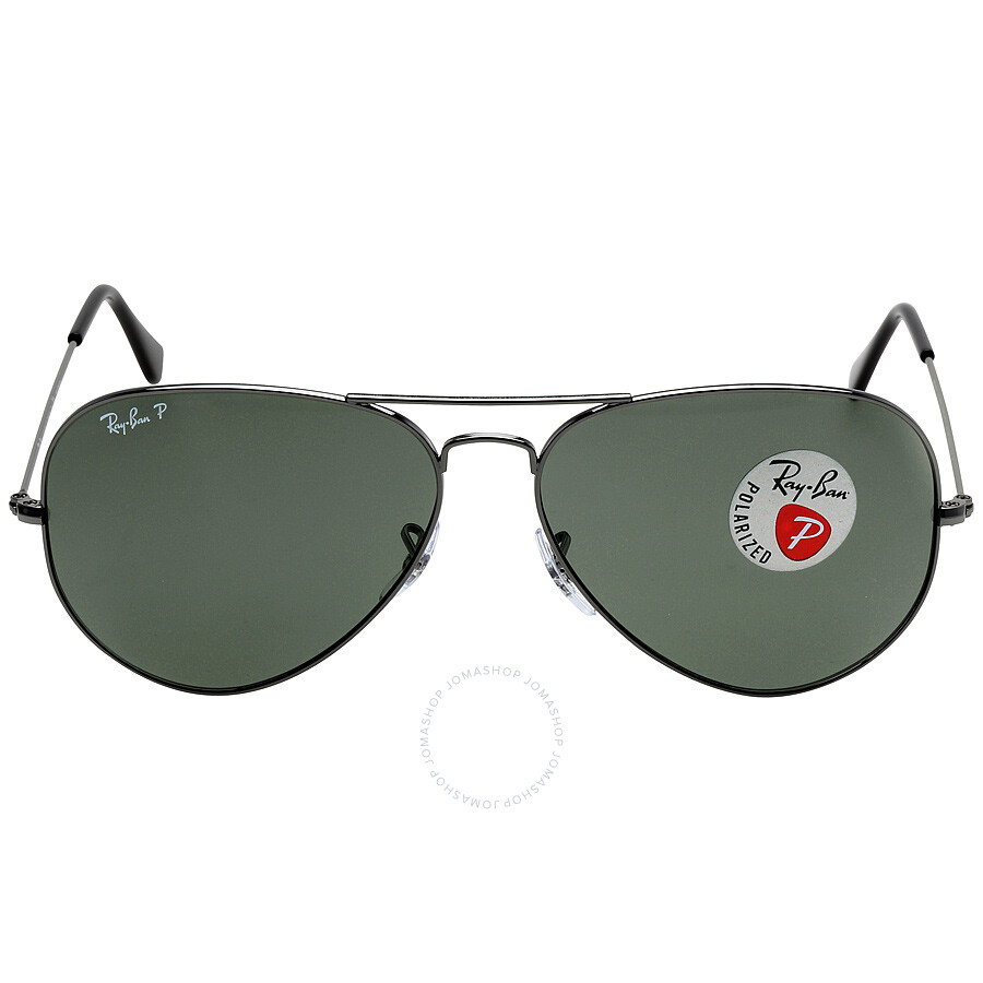 Aviator Classic Polarized Green Classic G-15 Sunglasses RB3025-00458-62 ... 506cd231d4cc