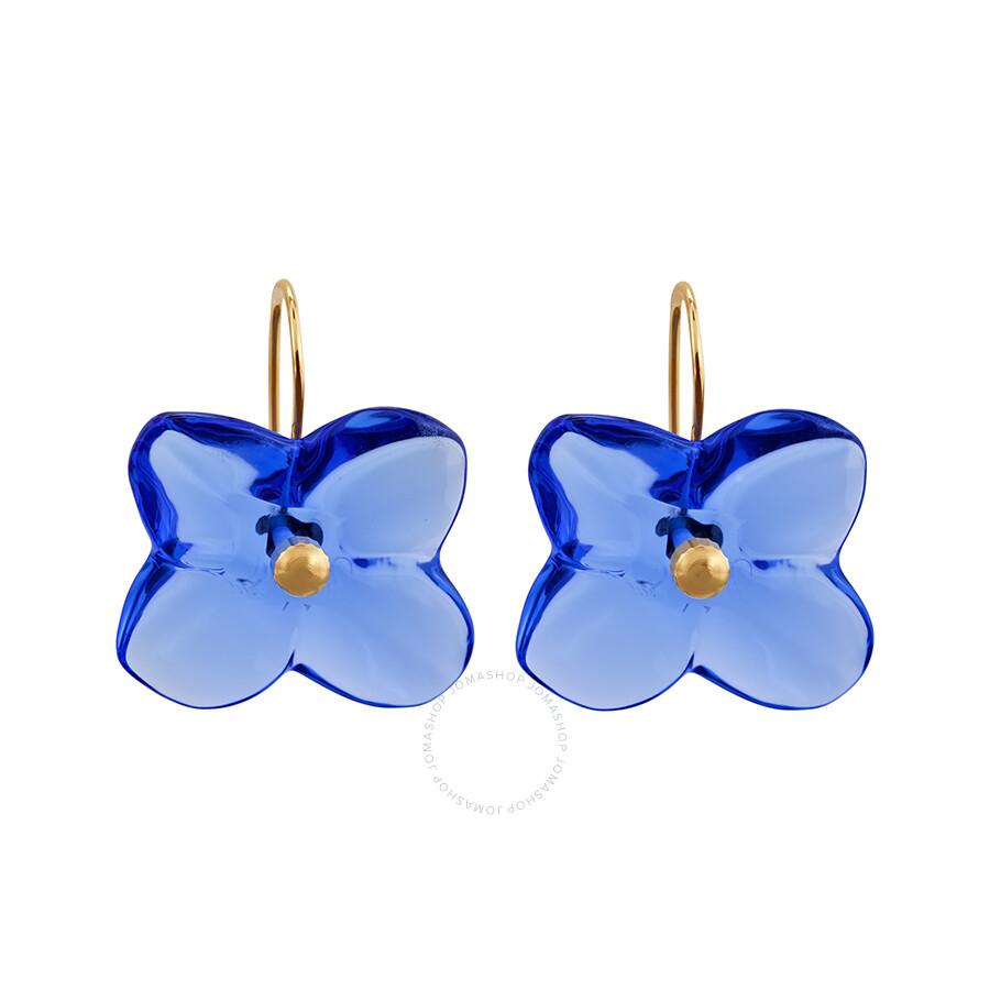 Baccarat Blue Hortensia Earrings 2517031