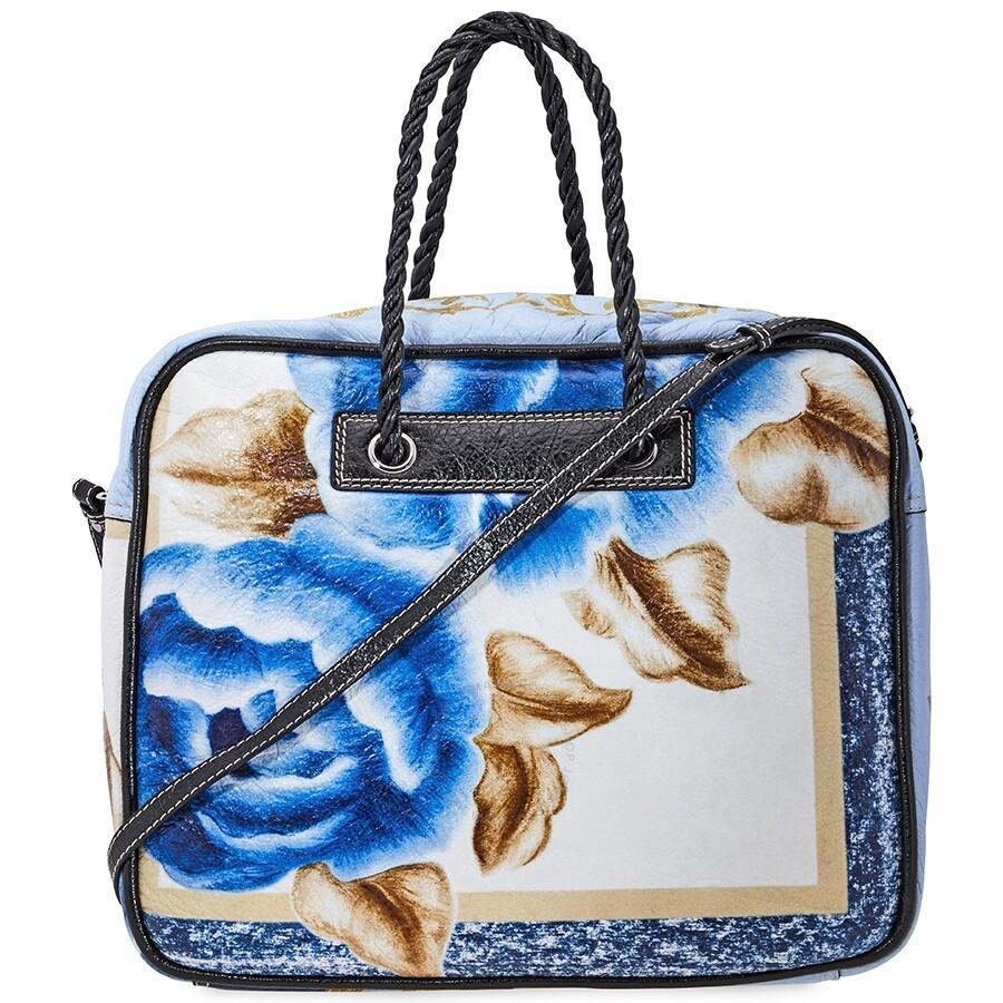 Balenciaga Blanket Square Medium Bag Blue Black