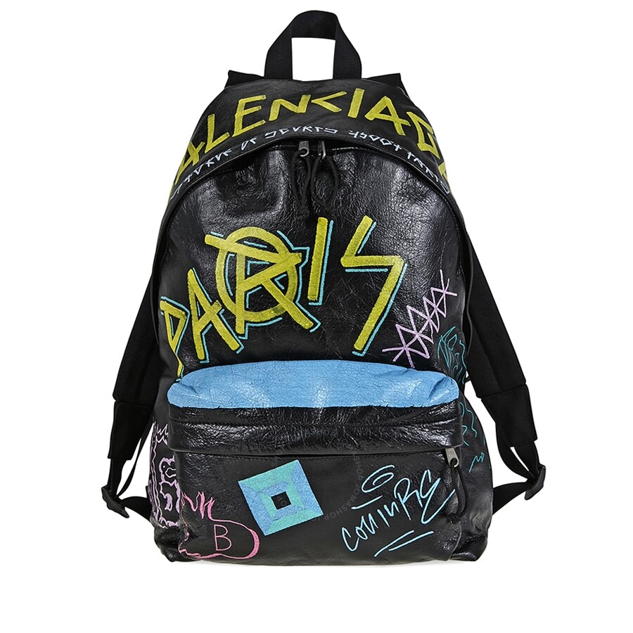 fb2004292 Balenciaga Explorer Backpack Graffiti - Balenciaga - Handbags - Jomashop