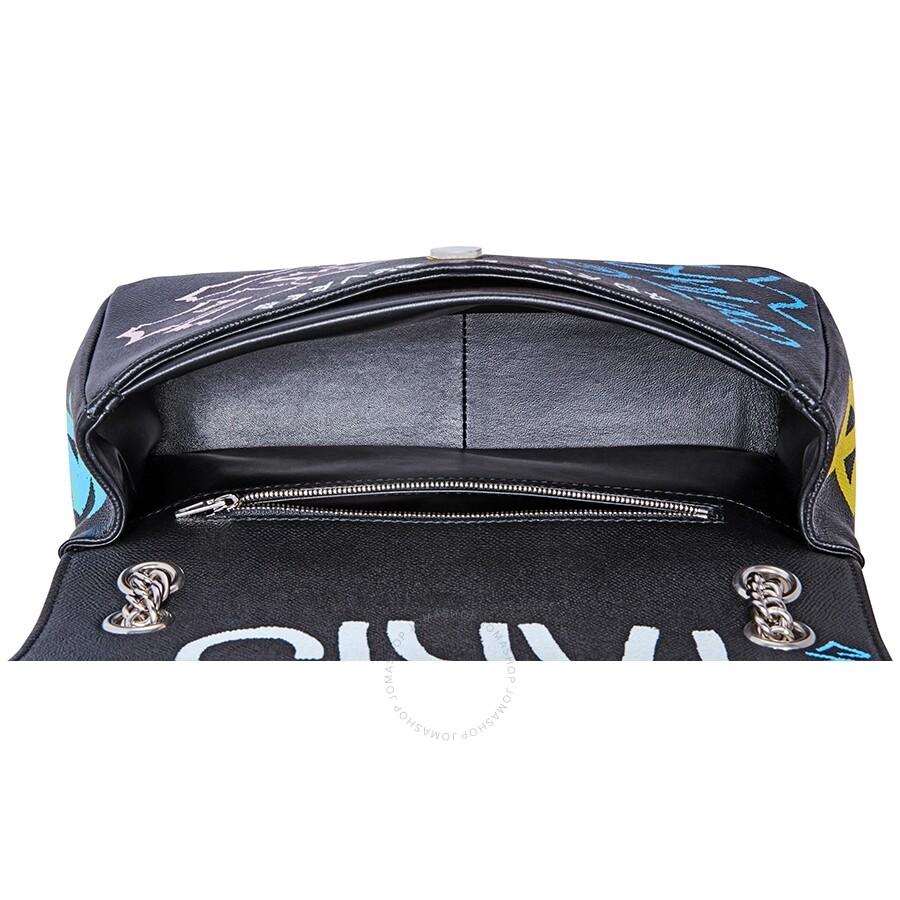 f1e34cd71 Balenciaga Graffiti Printed Crossbody Bag- Black/Blue - Balenciaga ...