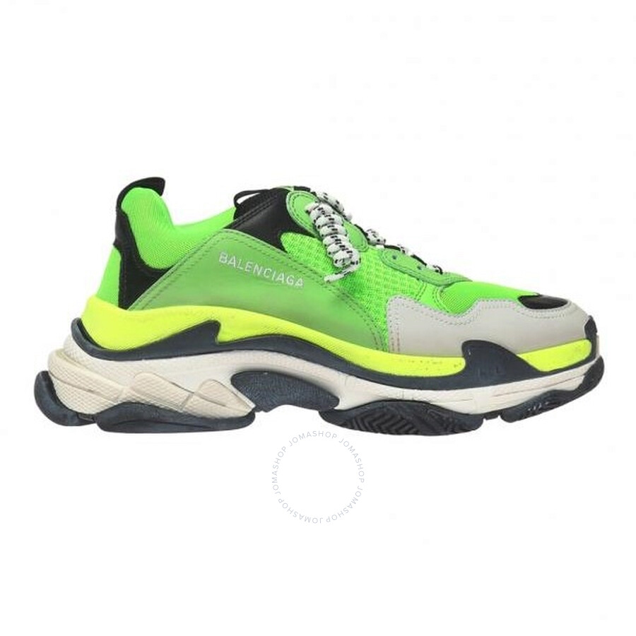 outlet online elegant shoes sneakers for cheap Balenciaga Men's Green Triple S Sneakers