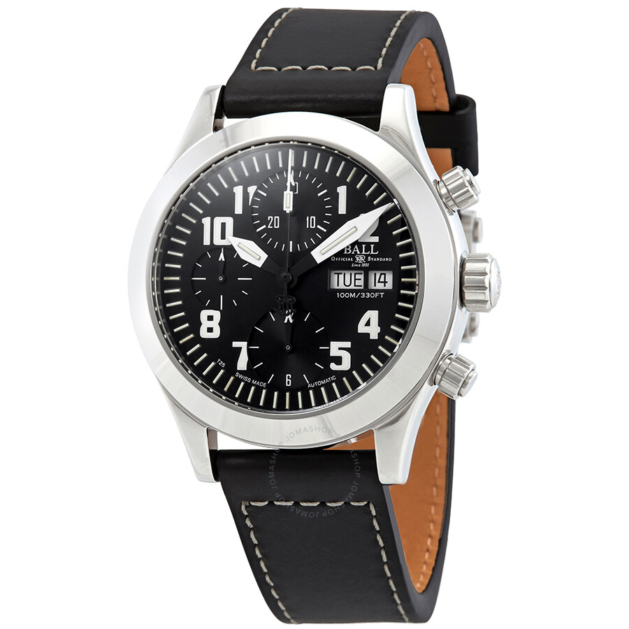 76e43b277 Ball Engineer II Black Dial Automatic Men's Leather Watch CM1020C-L2J-BKWH  ...
