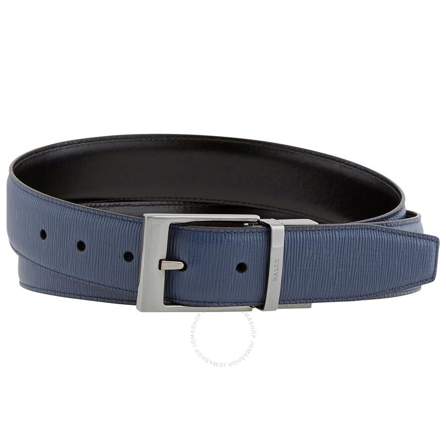 Bally Men's Seret Calf Leather Adjustable Belt