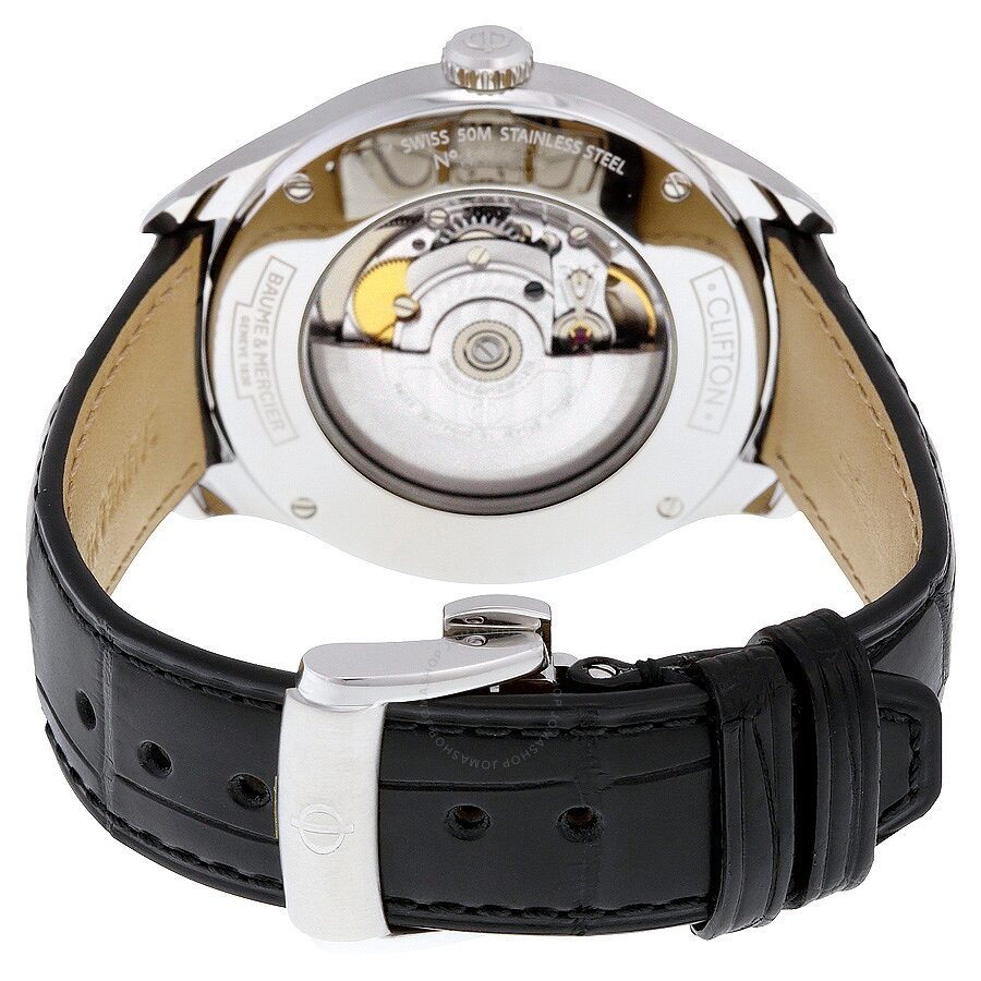 baume et mercier clifton automatic silver dial men 39 s watch a10052 clifton baume mercier. Black Bedroom Furniture Sets. Home Design Ideas