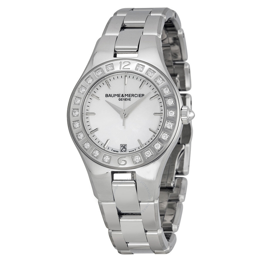 Baume and mercier linea mother of pearl dial ladies watch 10072 linea baume mercier for Pearl watches