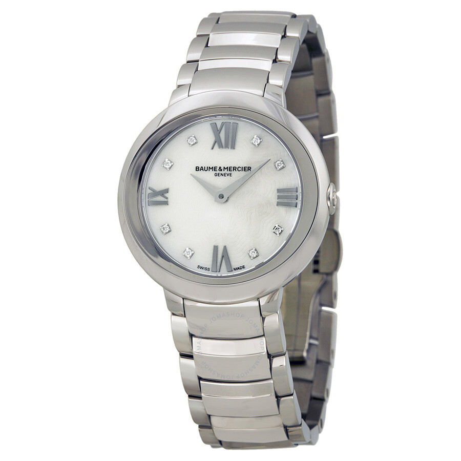 baume and mercier promesse of pearl stainless steel