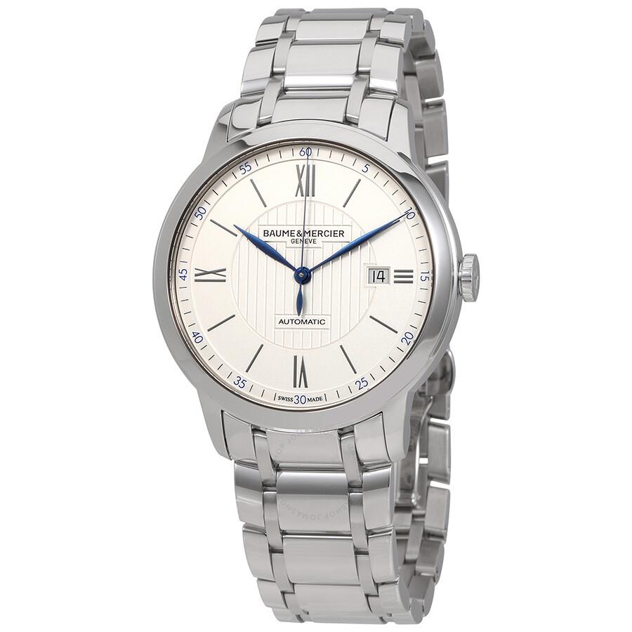 baume et mercier classima automatic silver dial men 39 s watch moa10334 classima executives. Black Bedroom Furniture Sets. Home Design Ideas