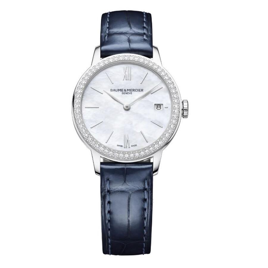 Classima Yea Quartz Diamond White Mother of Pearl Dial Ladies Watch 10544