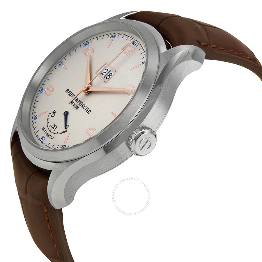 baume et mercier clifton automatic silver dial men 39 s watch moa10205 clifton baume mercier. Black Bedroom Furniture Sets. Home Design Ideas