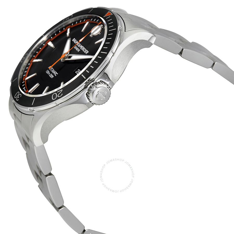 baume et mercier clifton automatic black dial men 39 s watch moa10340 clifton baume mercier. Black Bedroom Furniture Sets. Home Design Ideas