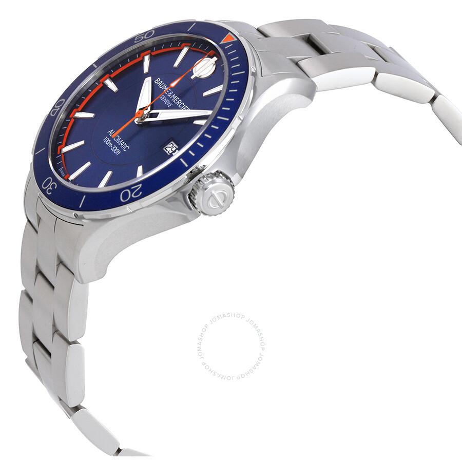 baume et mercier clifton blue dial automatic men 39 s watch moa10378 clifton baume mercier. Black Bedroom Furniture Sets. Home Design Ideas