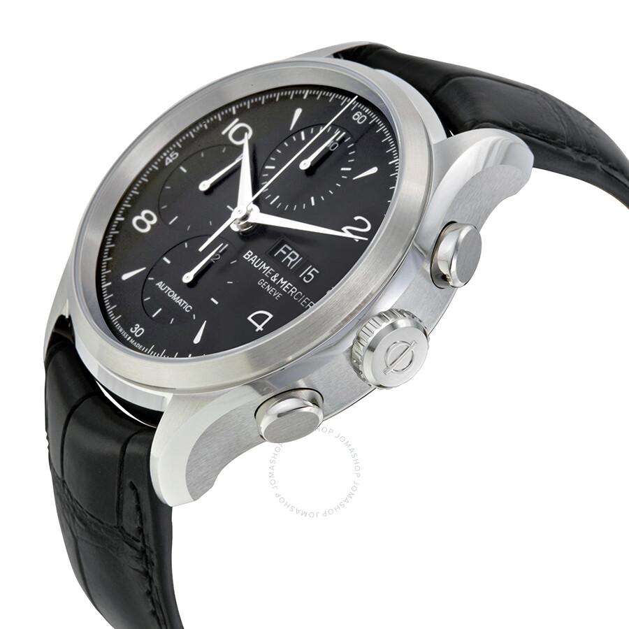 baume et mercier clifton automatic chronograph black dial men 39 s watch 10211 capeland baume. Black Bedroom Furniture Sets. Home Design Ideas
