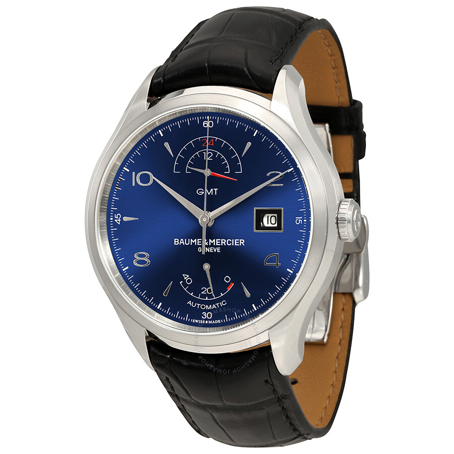 c7a2226cb6b Baume et Mercier Clifton GMT Automatic Blue Dial Men s Watch M0A10316 ...