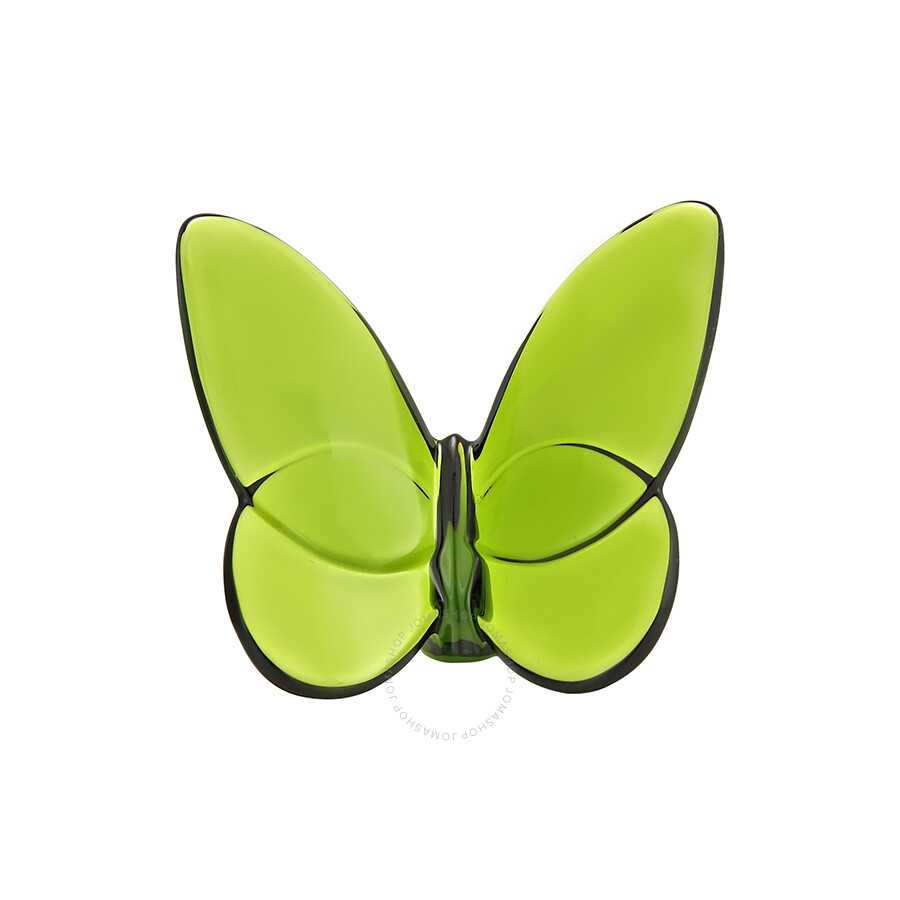 Baccarat Crystal Lucky Butterfly Olive Green 2102547 - Baccarat ...
