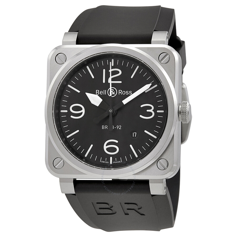 bell and ross aviation automatic 42mm men 39 s watch br 03 92 steel aviation bell and ross. Black Bedroom Furniture Sets. Home Design Ideas