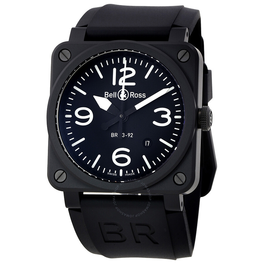 bell and ross aviation automatic black dial men 39 s watch br0392 bl ce aviation bell and ross. Black Bedroom Furniture Sets. Home Design Ideas