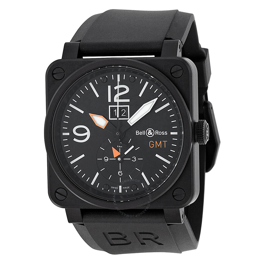 bell and ross aviation black dial black rubber men 39 s watch. Black Bedroom Furniture Sets. Home Design Ideas