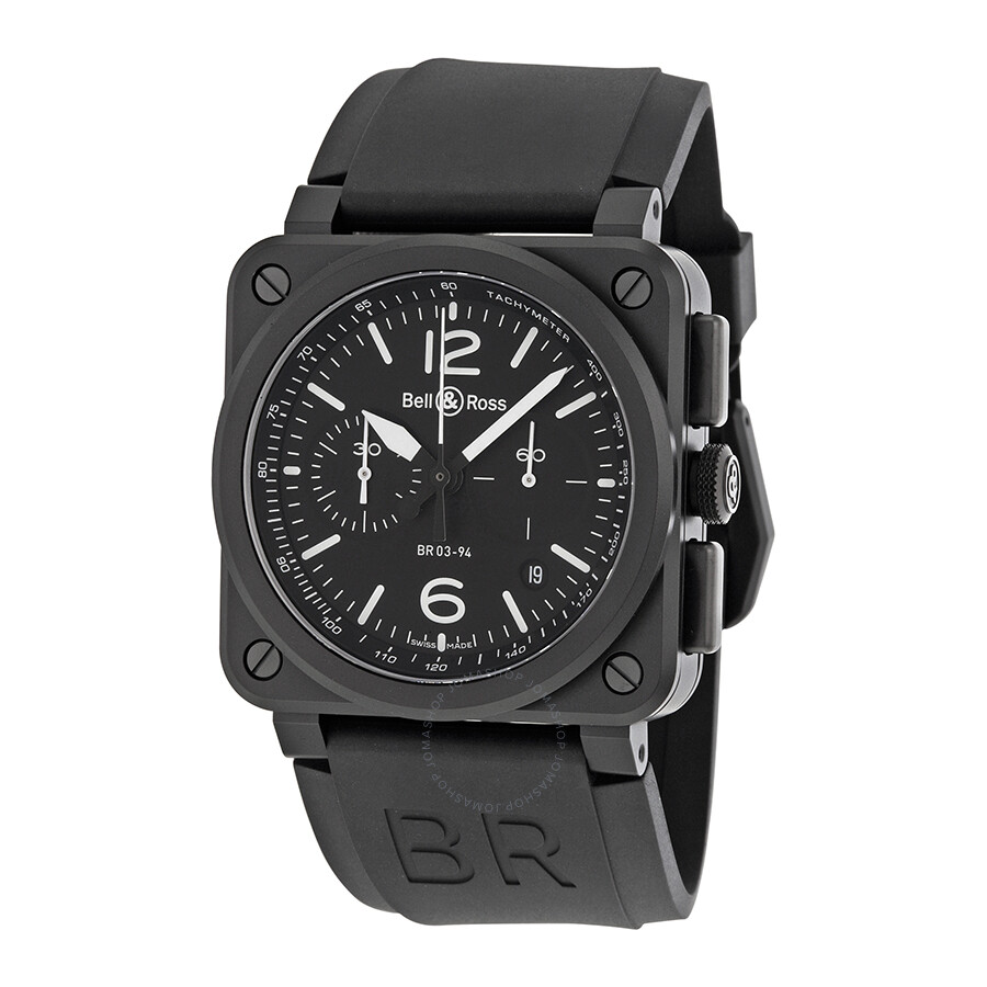 bell and ross aviation black dial chronograph men 39 s watch. Black Bedroom Furniture Sets. Home Design Ideas