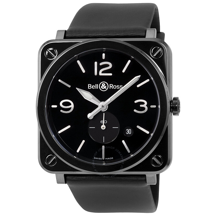 bell and ross aviation black dial men s watch brs bl ce sat