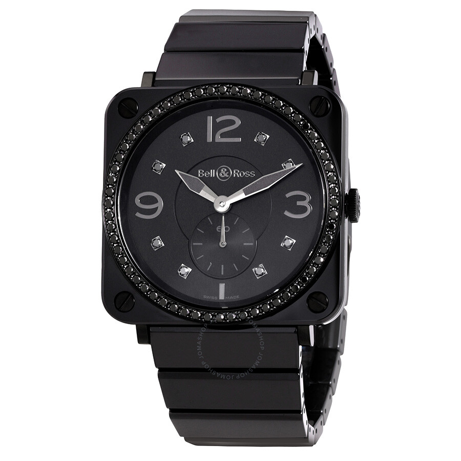 bell and ross aviation black diamond dial ceramic unisex. Black Bedroom Furniture Sets. Home Design Ideas