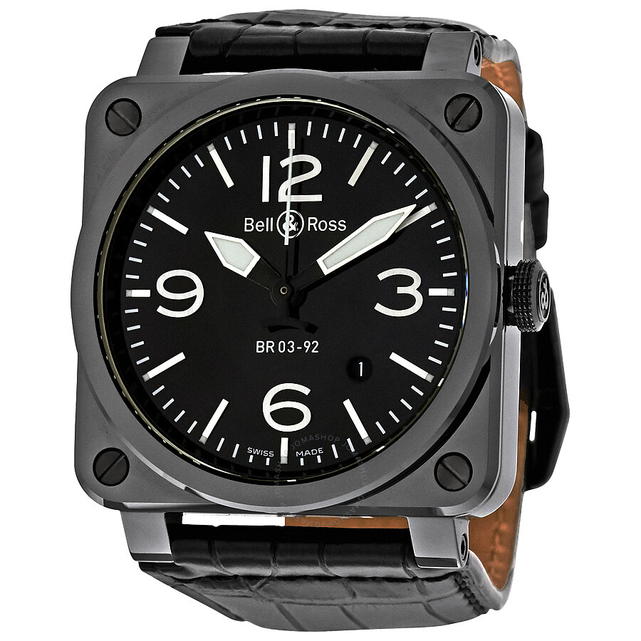 bell and ross aviation black watch br0392 ceram ali. Black Bedroom Furniture Sets. Home Design Ideas