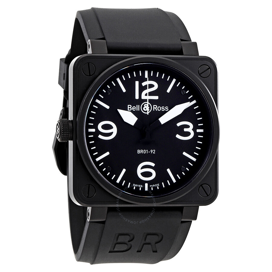 bell and ross aviation br01 92 carbon automatic men 39 s. Black Bedroom Furniture Sets. Home Design Ideas