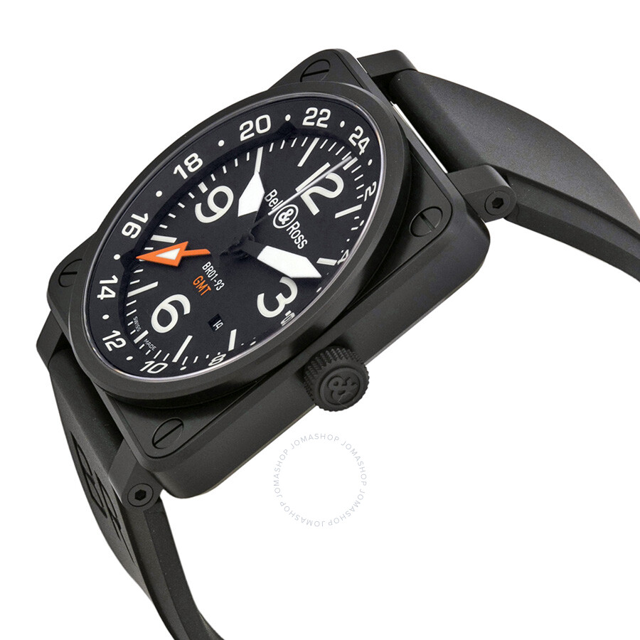 335a5b8b57e Bell and Ross Aviation GMT Automatic Black Dial 46MM Men s Watch BR-01-93