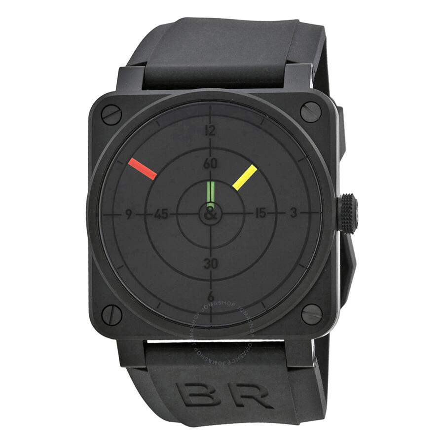 Bell and Ross Aviation Radar Black Dial Mechanical Men's Watch BR0392-RADAR