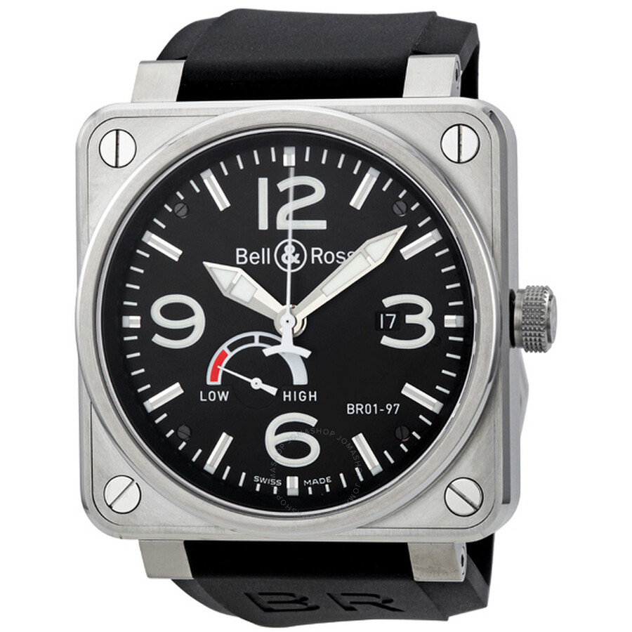 info for 6f6df 9b123 Bell and Ross Aviation Reserve De Marche Black Dial Men's Watch  BR01-97-STEEL
