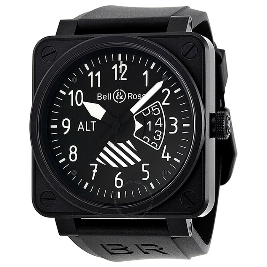 Bell and Ross Big Date Altimeter Automatic Black Dial Men's Watch ...