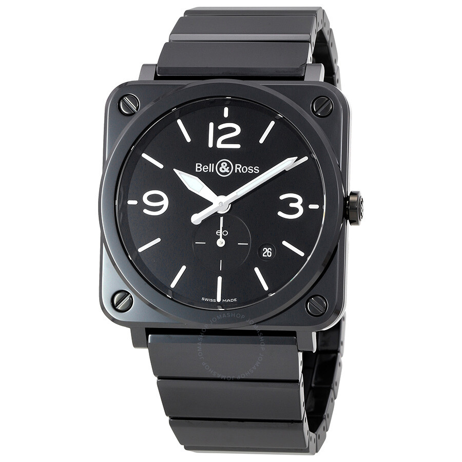 bell and ross black dial black ceramic unisex watch brs bl. Black Bedroom Furniture Sets. Home Design Ideas