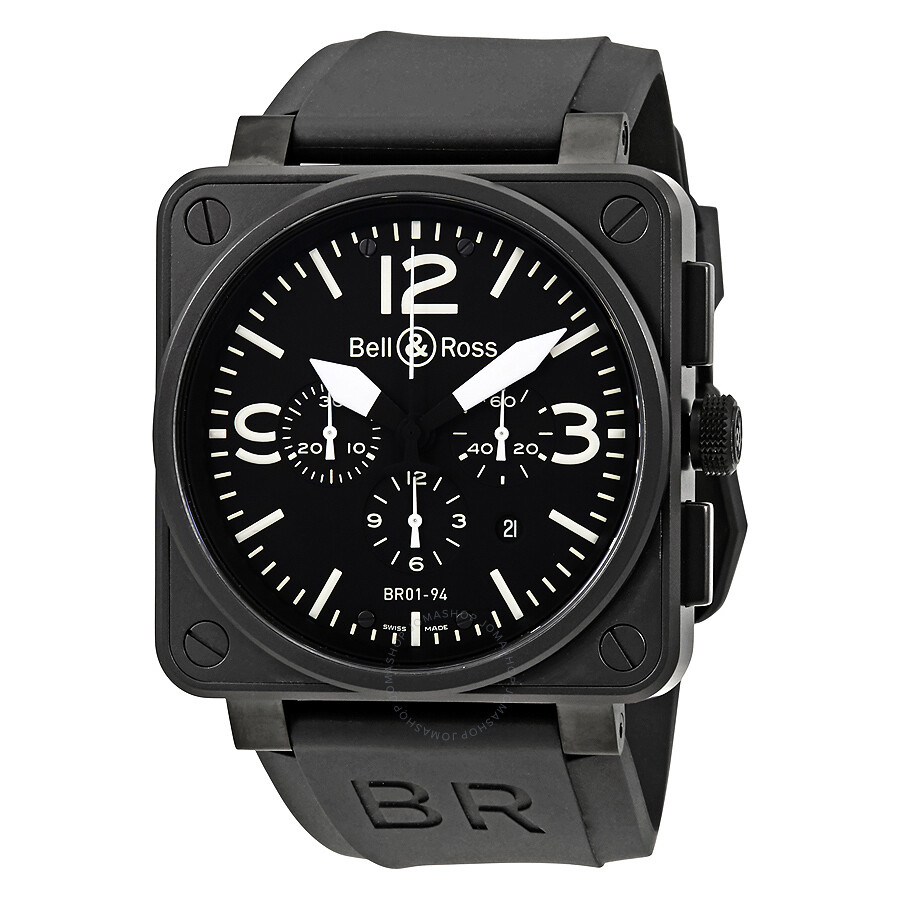 bell and ross carbon chronograph black dial stainless. Black Bedroom Furniture Sets. Home Design Ideas